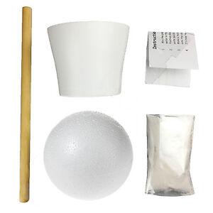 Sweet/Candy Tree Make Your Own DIY Kit Ceramic Pot, 120mm Ball, Dowel & Plaster
