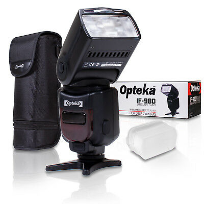 Opteka IF-980 i-TTL AF Dedicated Flash w Bounce Zoom Tilt LCD Display for Nikon