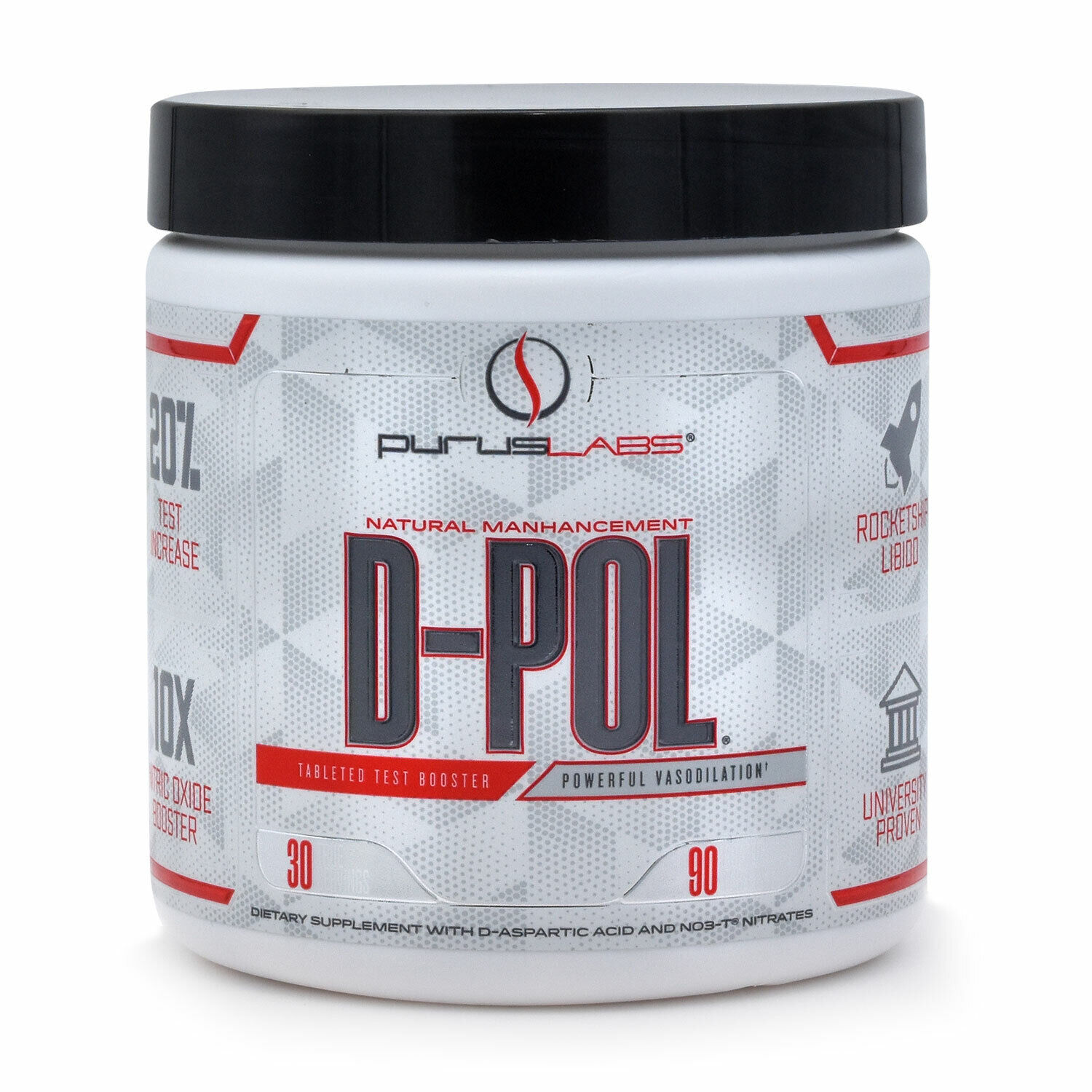 Purus Labs D-Pol Extreme Testosterone Booster with D-Asparic Acid, 90 tablets