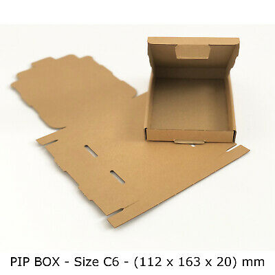 50 C6 A6 SIZE BOX LARGE LETTER STRONG CARDBOARD SHIPPING MAILING POSTAL PIP BOX