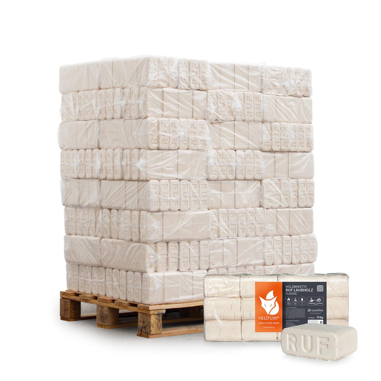 Holzbriketts Ruf Laubholz Buche Kamin Ofen Brenn Holz 10kg x 96 960kg Palette