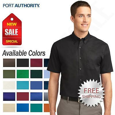 Port Authority Mens Big & Tall Button Down Short Sleeve Dres