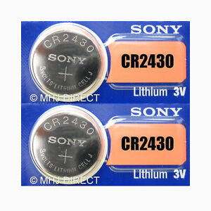 2 x Sony CR2430 CR 2430 DL2430 Lithium 3v Battery Coin Cell Use By Date 2027