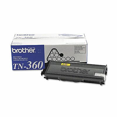 Brother TN360 High Yield Toner Cartridge Black BRAND NEW | GENUINE | OEM | NIB ()