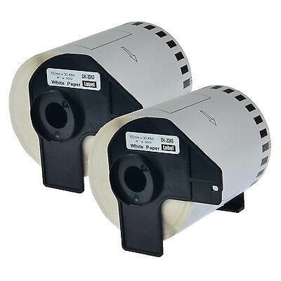 2pk New Dk2243 White Paper Label For Brother Dk-2243 Ql-1050 Printer Wcartridge