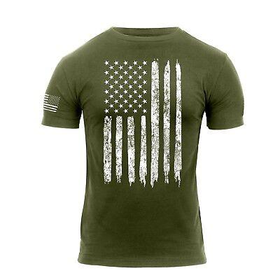ag Athletic Shirt Fit T-Shirt Flagge Fahne OD Oliv Drab (Flag Shirt)