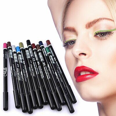 Professional Cosmetic Vivid-Colored Eyeliner & Lip liner Pencils (12-Pack) Health & Beauty
