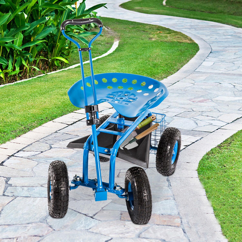 heavy duty rolling garden cart planting w