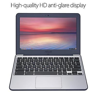 """ASUS C202SA-YS02 11.6"""" (Intel Celeron N3060, 4 GB, 16GB eMMC) Dark Blue, Silver"""