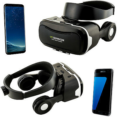 3D Brille VR Headset Virtual Reality für Samsung Galaxy S6 S7 Edge S8+ S9 + Plus