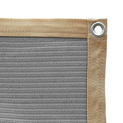 Shatex Shade Fabric for Pergola/Patio/Garden Shade Panel with Grommets Grey ()