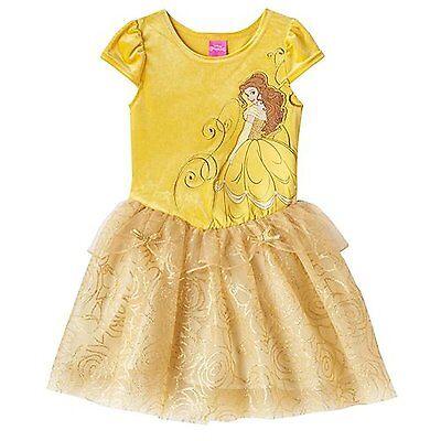 Disney Princess Belle Dress-Up Tulle Dress Size 5,6,6X Yellow-Orig $48