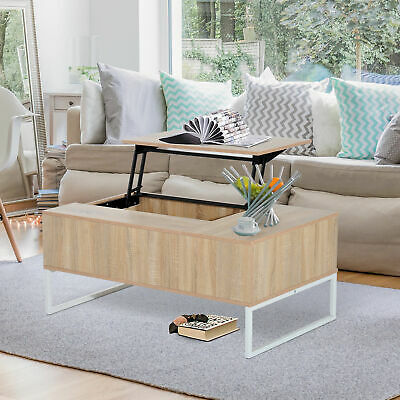 "43"" Lift Top with Storage Coffee Table Modern Wood Living Room Furniture Drawer"
