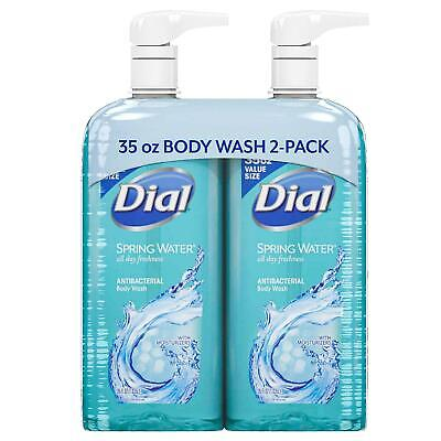 Dial Antibacterial Body Wash Soap Twin Pack, Spring Water (35 fl. oz., 2 pk.) Dial Spring Body Wash