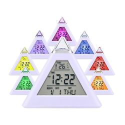 Kids Digital Alarm Clock LCD Snooze Thermometer Date Time for Boys Girls Child