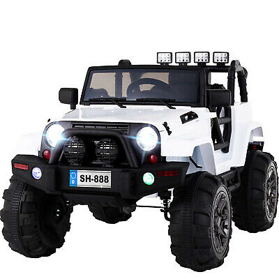12V Electric Battery Kids Ride on Car Truck LED MP3 With Remote Control White