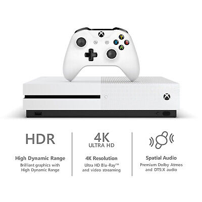 Microsoft Xbox One S 1TB White Video Game Console NEW FREE FAST SHIPPING