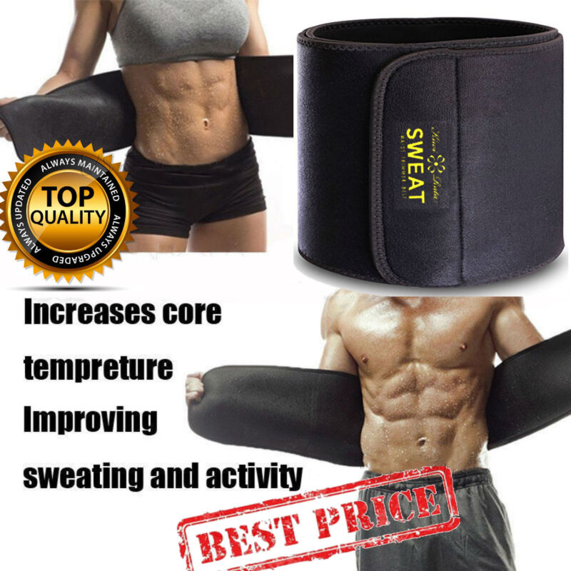 Men Waist Trimmer Belt Sweat Wrap Tummy Stomach Weight Loss