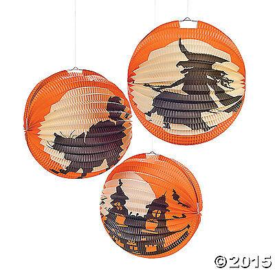 "Halloween Silhouette Party Lanterns 6 Pieces 10"" - Fun Expre"