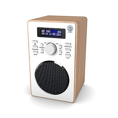 Barton Compact Portable Digital DAB+ DAB FM Radio With Wood Effect Finish