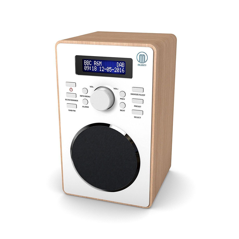 barton compact portable digital dab dab fm radio with. Black Bedroom Furniture Sets. Home Design Ideas