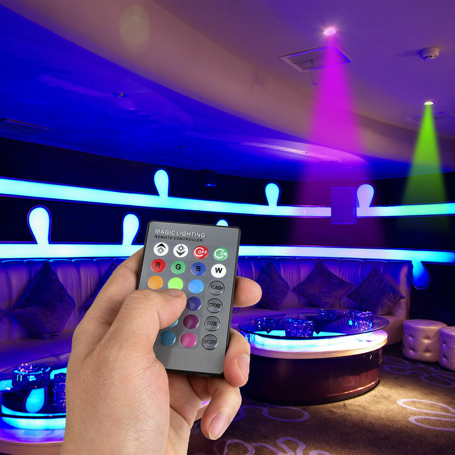16 Color Changing Magic Light E27 3W RGB LED Lamp Bulb + Wireless Remote Control Home & Garden