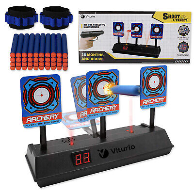 43pc Kit Electronic Target for Nerf N-Strike Guns, 40 Bullet Darts 2 Wristbands