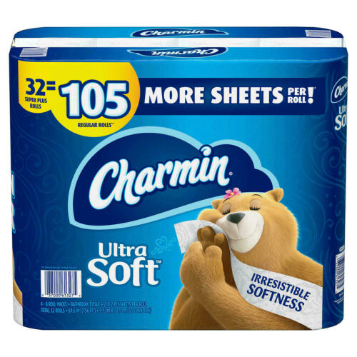 Charmin Ultra Soft Toilet Paper 32 Super Plus Roll, 218 Sheets Per Roll