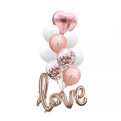 etti Folien Luftballons mit Love und Herz Motiv Hochzeit JGA (Herz-ballons)