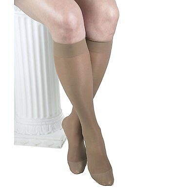 x3 ITA-MED 23-30 mmHg Small Beige H-180 Sheer Knee Highs Compression RRP £49.99