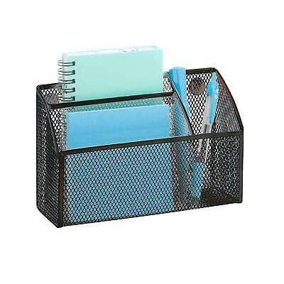 Pro Space Metal Mesh Magnetic Storage Basket Office Supplies Organizerblack