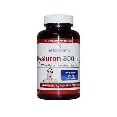 Hyaluronsäure Kapseln 180 Kapseln a 300mg Hyaluron - Gelenke Haut - Anti Aging