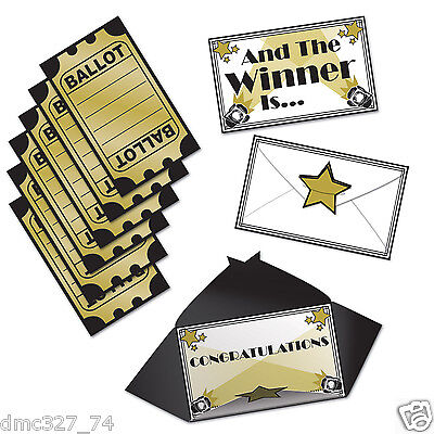 13 pc Set HOLLYWOOD Movie Party AWARDS NIGHT Voting BALLOTS