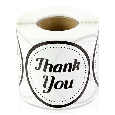 Thank You Stickers For Weddings Gifts Circle Round Apprecation Labels 2 1pk