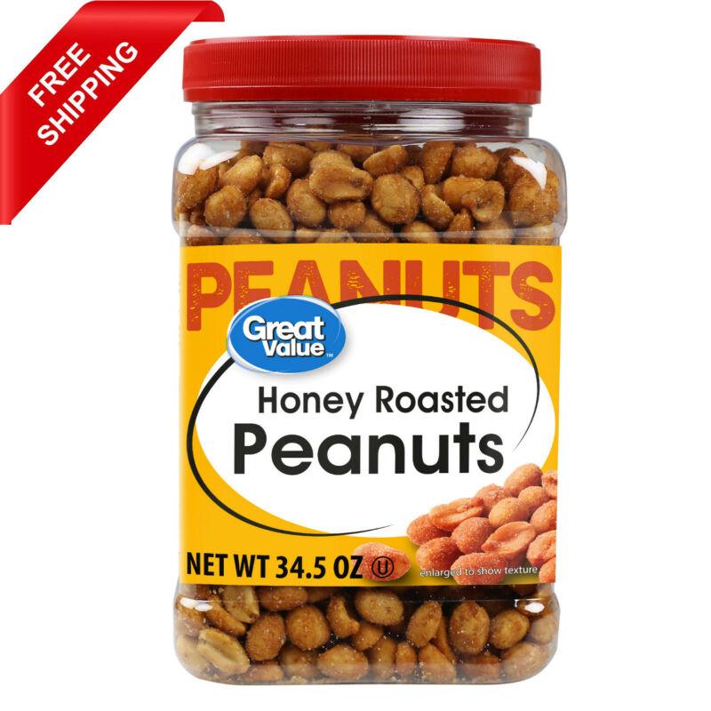 Great Value Honey Roasted Peanuts 34.5 Oz