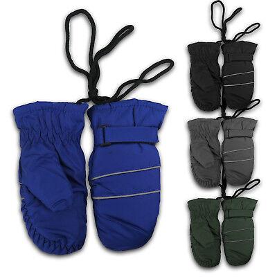 Winter Kids Boys Girls Insulate Snow Mittens Waterproof Warm Ski Gloves