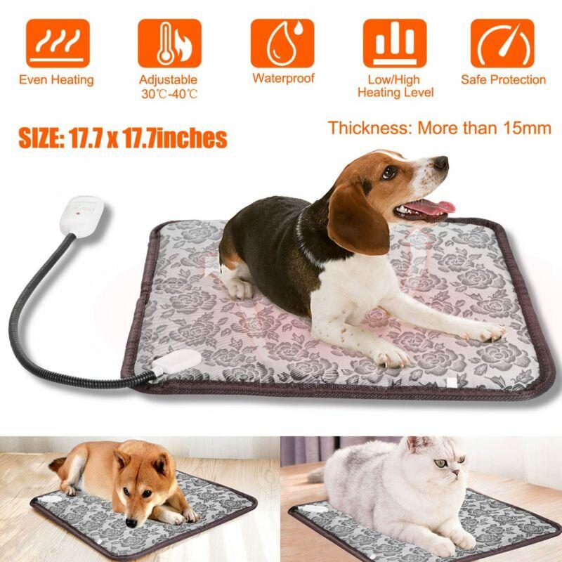 Pet Heat Pad Puppy Electric Heated Mat Blanket Dog Cat Whelping Bed Mat US Plug