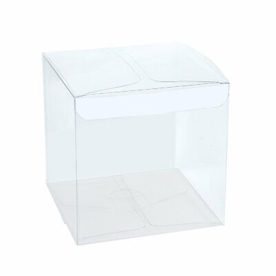 Clear Wedding Favor Boxes (100x Clear Gift Boxes Candy Box for Wedding, Party and Baby Shower Favor)