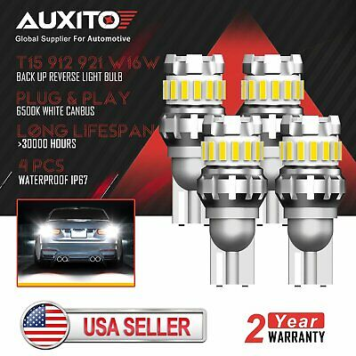 4x AUXITO T15 921 LED Back up Reverse Light Bulb 2400LM Xenon White Error Free