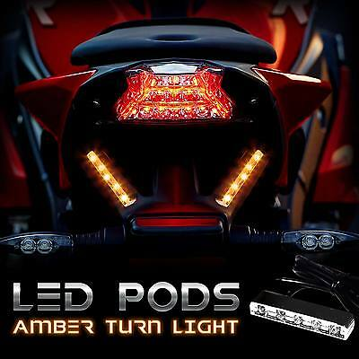 Motorcycle LED TURN Signals Blinker Front Rear Peg for 600RR 1000rr GSXR 600 750