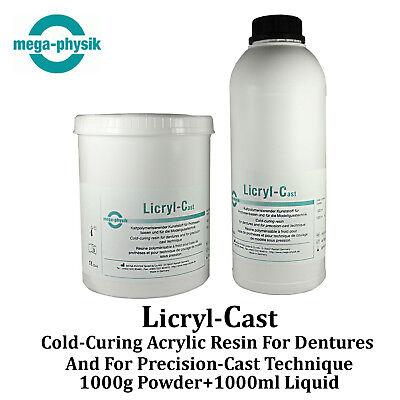 Dental Licryl Cast Full Restoration Acrylic Denture Base Cold Press Form Resin