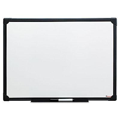 Universal One Dry Erase Board Melamine 24 x 18 Black Frame 43630