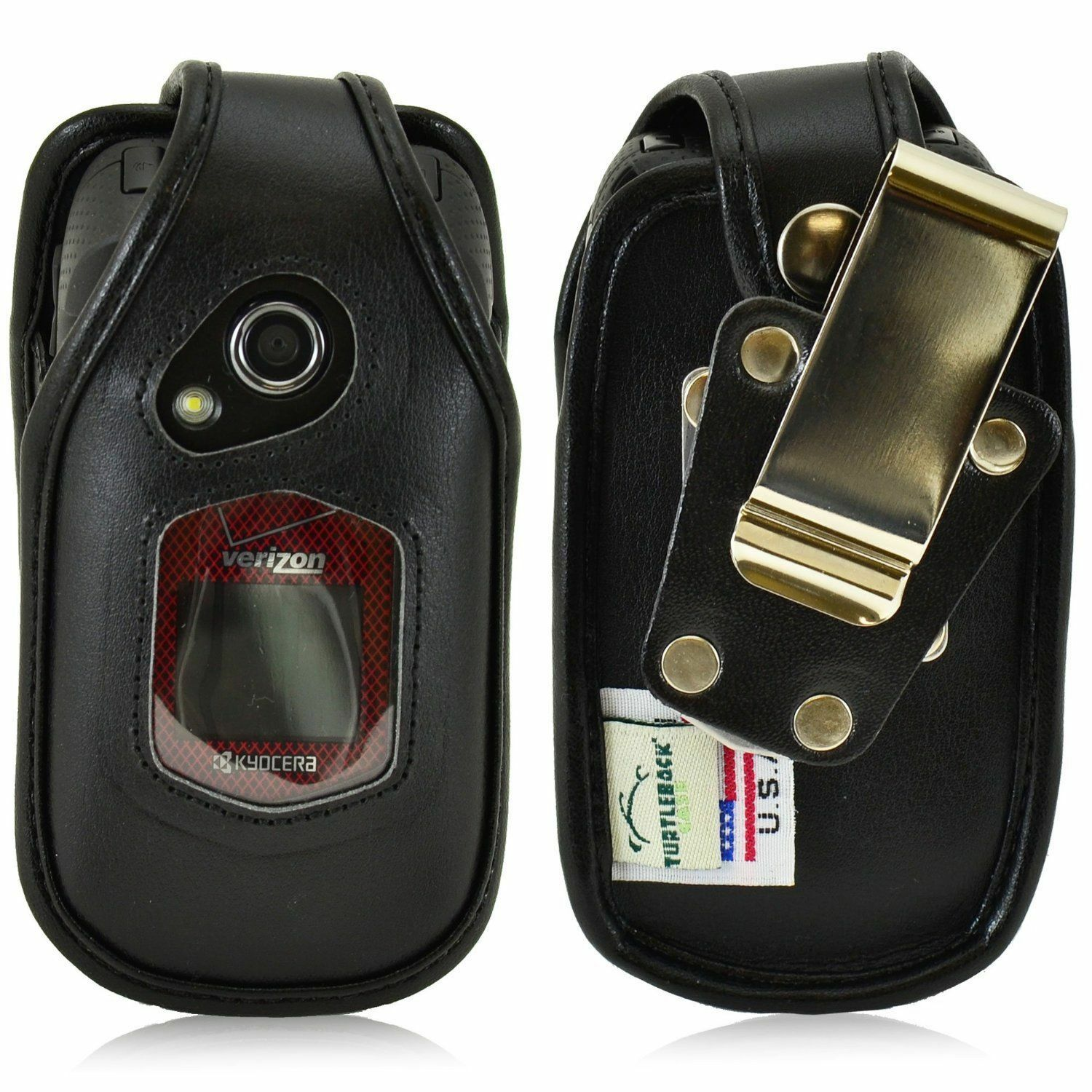 turtleback-kyocera-duraxv-duraxa-flip-phone-leather-fitted-case-metal-belt-clip