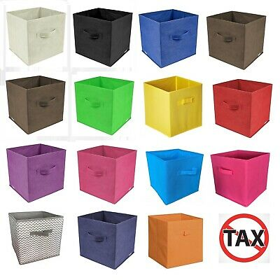 Storage Cube Basket Fabric Drawers Best Cubby Organizer Box Bin 6 Pack 12 Colors - Storage Cube Baskets