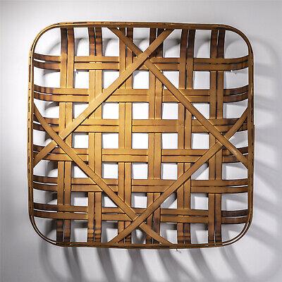 Glitzhome 24'' Farmhouse Rustic Tobacco Basket Vintage Fall Harvest Home Decor