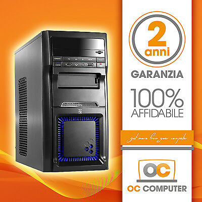 PC COMPUTER DESKTOP FISSO ASSEMBLATO INTEL QUAD CORE/RAM 8GB/HD 1TB/WIFI WINDOWS