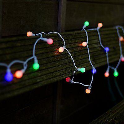 Plaights 50er LED Party Lichterkette für Außen Garten Outdoor Innen in bunt  ()