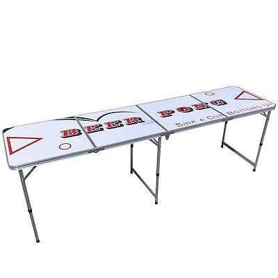 Bier Pong Tisch, Klapptisch, Campingtisch, Party Bier Spiel, Beer Game Table