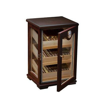 125 Count Cigar Countertop Display Humidor with Trays The Milano