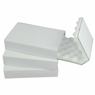 5 x Foam Lined Boxes Protective Postal Packaging Slide Sleeve Delicate Fragile